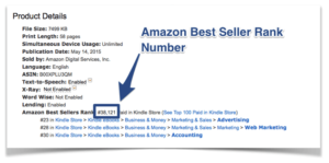 Amazon's Best Seller Rank Improvement guidelines