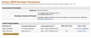mws permissions before confirmation